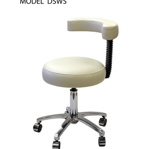 Nurse's Stool with armrest and backrest (DSWN)