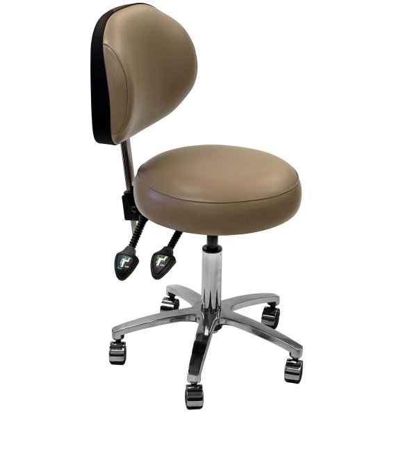Surgeons Stool with fully adjustable backrest (DS5S)