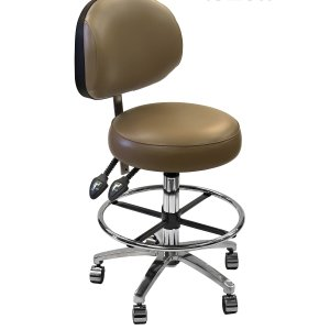 Surgeons Stool with comfort seat and adjustable backrest