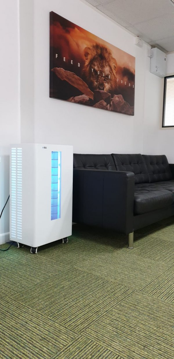 Viralair-UV Air Sterilsation Unit in waiting room