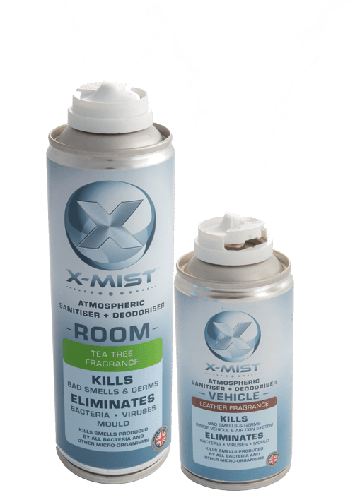 X-mist fog disinfection for surfaces